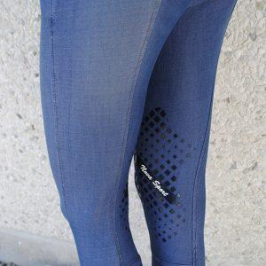 nova sport jeansridbyxor knäskodda